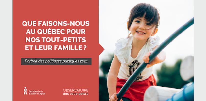 L'Observatoire des tout-petits dresse un premier Portrait des politiques publiques au Québec